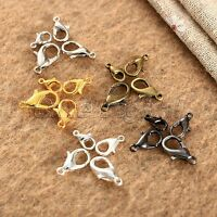 100Pcs Plated Lobster Clasps Hooks Claw Buckle Jewelry Necklace Bracelet Finding