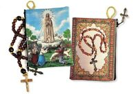 Our Lady Of Fatima With Children Tapestry Icon Pouch Rosary Keepsake Holder GIFT