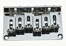 Chrome Electric Guitar Hardtail Bridge Top Load Or String Thru