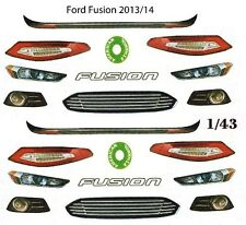2013 -2014 Ford Fusion Lights & Grill 1/43rd Scale Slot Car Waterslide Decals