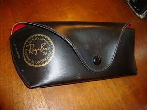 Ray Ban Luxottica Eyeglass Sunglasses Black Soft Case Only Red Velvet Lining