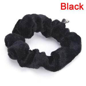 Women Velvet Hair Scrunchies Elastic Hair Bands Ties Ponytail HaYJCWJ Uz