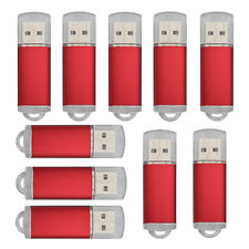 30 Pack 8GB USB 2.0 Flash Drive Rectangle Flash Pen Drive Thumb Memory Stick Red