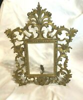 Antique Victorian Iron Brass Gilt Picture Frame - NB & IW Easel Back Late 1800's