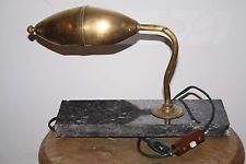 LAMPE  EN LAITON époque art déco 1930  rare lampe de bureau