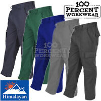 High Quality Hard Wearing Cargo Combat Work Trousers Mens Pants Knee Pad Pockets
