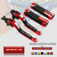 Folding Brake Clutch Levers with Handle Grips for SUZUKI GSX-S 750 2011-2019