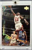 Rare: MICHAEL JORDAN 1995-96 Upper Deck #352 Electric Court Gold! Slams & Jams!!