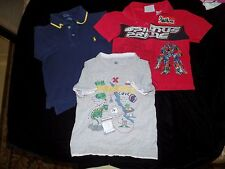3 pc BOYS LOT SHIRTS TOPS size 3 Tee PIRATE 4T POLO RALPH LAUREN TRANSFORMERS CU