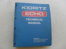 USED GENUINE KIORITZ ECHO 1980 DEALER TECHNICAL BINDER SERVICE MANUAL CHAIN SAW