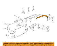 MR551909 Mitsubishi Arm & blade assy, rr window wiper MR551909, New Genuine OEM