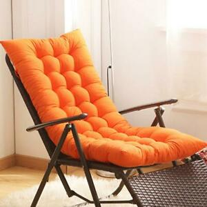 Outdoor Patio Pool Lounger Chair Cushion Tufted Deck Chaise Padding Seat#