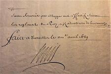 KING LOUIS XIV AUTOGRAPH ON DRAGONS REGIMENT ORDER 1698 König von Frankreich