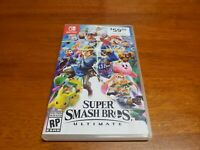 Super Smash Bros Ultimate (Nintendo Switch) Replacement Art & Case Only