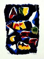 JAN VOSS - Bois gravé woodcut signé numéroté etching cobra 1990 *