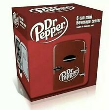 New In Box Dr. Pepper 6-Can Cooler/Mini Fridge - Red (Mis135Drp)