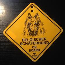 12cm Roadsign Schild mit Saugnapf belgischer Schäferhund malinois 2.Wahl