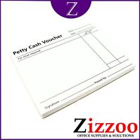 PETTY CASH PAD VOUCHER SLIPS 100 SHEETS 99 X 127MM FREE DELIVER