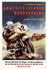 Motorcycle Bike International ADAC Eifelrennen Motorbike  Race  Poster Print