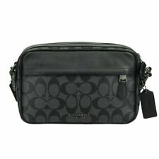 NWT Coach Signature Canvas Graham Crossbody Handbag Charcoal Black F50715