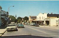 Vintage Downtown Harbor Springs MI Michigan Chrome Postcard Classic Cars
