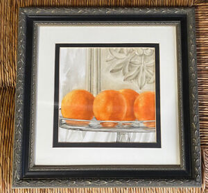 """Valencia Original Watercolor by Natalie George 15"""" By 15"""" Framed"""