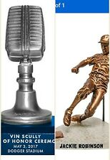 Dodgers Jackie Robinson Statue & Vin Scully Microphone, SGA FREE MAGNET SCHEDULE