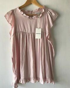 COUNTRY ROAD - SZ 12 fluid button yoke top pink - shirt M [CR LOVE]