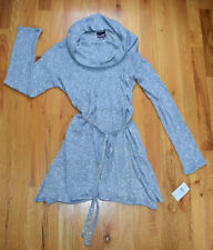 NWT - OH BABY BY MOTHERHOOD BLUE MARLED COWL NECK TUNIC (L) MSRP $40