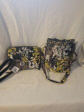 NWT Vera Bradley Baroque Mini Laptop Case/ Bucket Shoulder Bag Purse Pull Tie