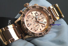 New Nixon Watch 42-20 Chrono All Rose Gold A037-897 A037897 42mm men gift.