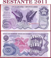 YUGOSLAVIA JUGOSLAVIA - 500000 500.000  DINARA 1989 Prefix AA00 - P 98   FDS/UNC