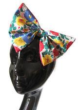Gran arco de pelo-Vintage Floral Cabello Clip Indie Grunge Rockabilly 50 Moda