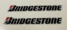 BRIDGESTONE stickers - decals - 2 x  HIGH Gloss Gel Finish 150mm - Motorcycling