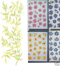 FLOWERS ASSORTED WITH VINES CREATIVE WALL ART TRANSFERS DECOR TATOUAGE
