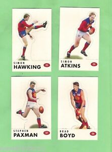 #D524. 1996 FITZROY LIONS  AFL SELECT  STAND UP  CARDS