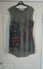 ladies khaki green river island top size 6