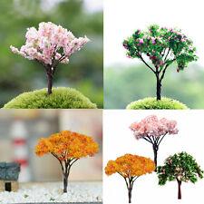 3X Sakura Tree Miniature Plant Pots Fairy Ornament DIY Bonsai Garden Decoration