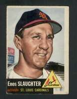 1953 Topps #41 Enos Slaughter VG/VGEX Cardinals 125883