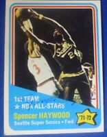 SPENCER HAYWOOD HOF signed autograph 1972-73 Topps Seattle Super Sonics