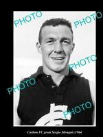 OLD POSTCARD SIZE PHOTO OF CARLTON FC GREAT SERGIO SILVAGNI c1964