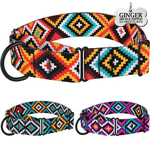 Martingale Dog Collar Training  Wide Collars for Large Dogs Engraved ID Tag Boho