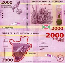 BURUNDI 2000 Francs Banknote World Paper Money UNC Currency Pick p-52 Bill Note