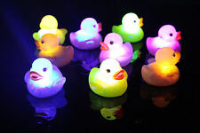 New 3pcs Color Changing Yellow Duck Flashing LED Lamp Light Baby Kids Bath Toy