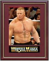 Brock Lesnar Wrestling Legend Mounted & Framed & Glazed Memorabilia Gift