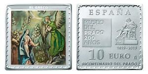 ESPAÑA 10 euro plata 2019 LA ANUNCIACIÓN - El Greco Museo del Prado Serie Museos
