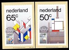 Niederlande 1234/5 Maximumkarten Gemälde der Stijl-Bewegung