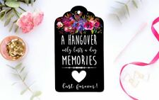 10 Black Tags Wedding Favour Engagement Birthday bomboniere Hangover Tags Kits