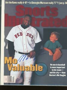 MO VAUGHN BOSTON RED SOX NO LABEL SPORTS ILLUSTRATED signed autographed