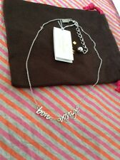 NEW IN ORIGINAL PACKAGING KATE SPADE BON VOYAGE SILVER PLATED NECKLACE-WBRU7947